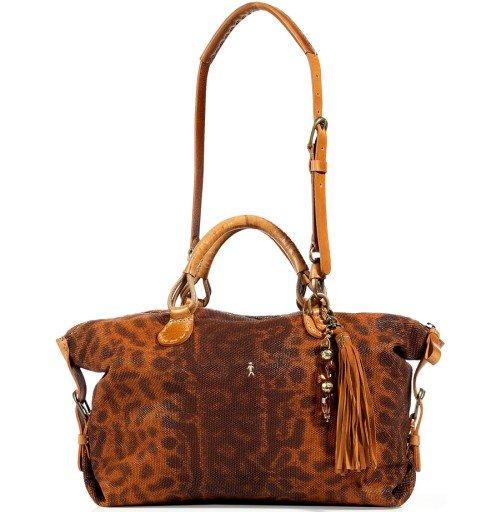 Henry Beguelin Cognac/Brown Animal Printed Tote Bag Virginia