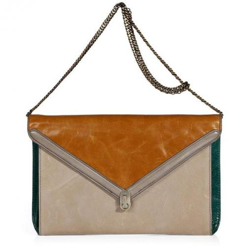 Hoss Intropia Pumpkin/Taupe/Forest Leather Bag