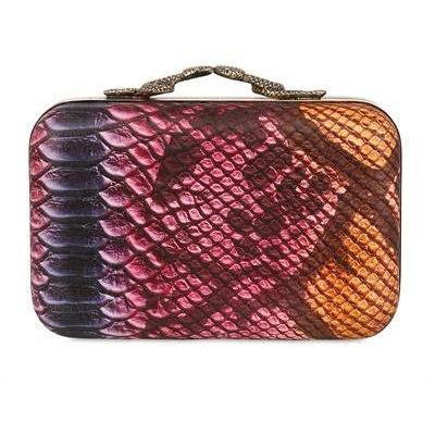 House Of Harlow 1960 - Marley Colored Schlangen Druck Clutch