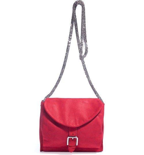 Iro Red Leder Schultertasche mit Chain