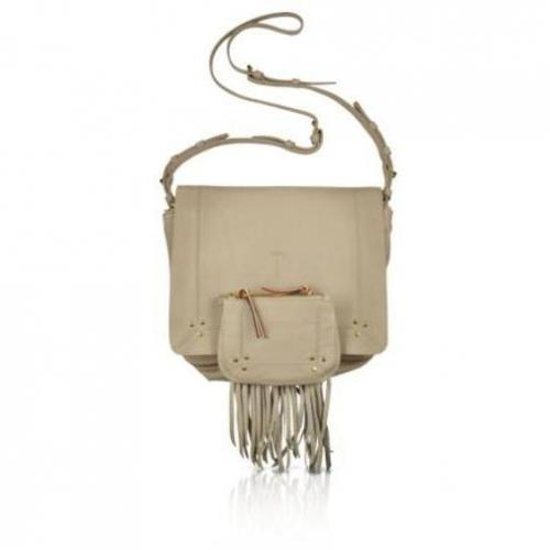 Jerome Dreyfuss Igor - Schultertasche aus Leder in beige