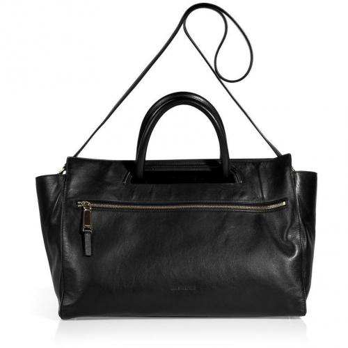 Jil Sander Black Calf Leather Bag