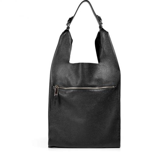 Jil Sander Black Calf Leather Shoulder Bag