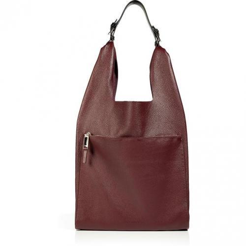 Jil Sander Burgundy Leather Shoulder Bag