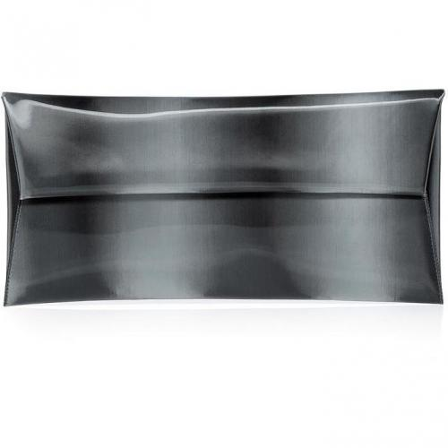 Jil Sander Charcoal Iridescent Envelope Clutch