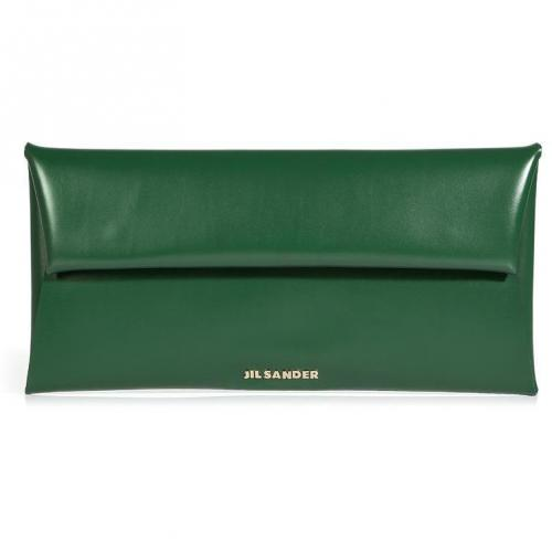 Jil Sander Emerald Envelope Clutch