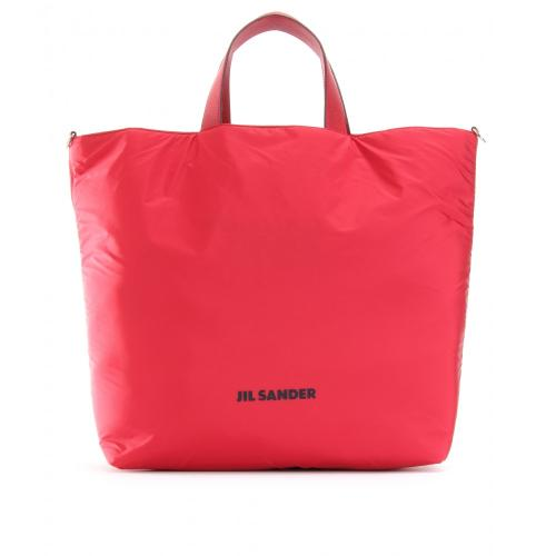 Jil Sander Navy Nylon Shopper Gelb/Orange/Rot