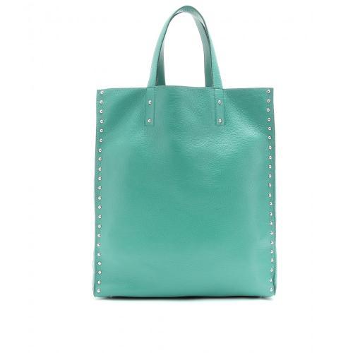 Jil Sander Shopper mit Nieten Blau / Grün