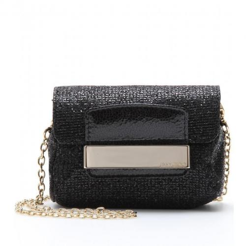 Jimmy Choo Caro Glitter-Clutch Black
