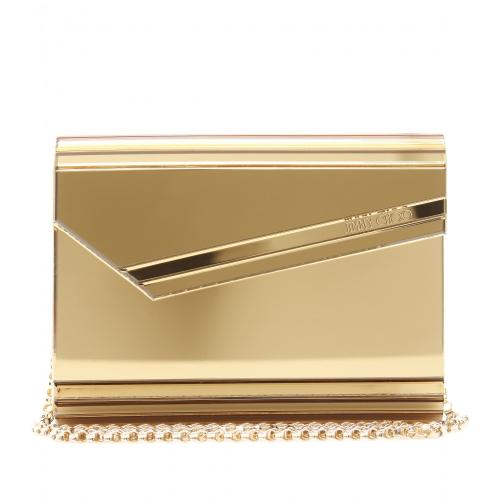 Jimmy Choo Candy Mac Clutch Gold / Metallic