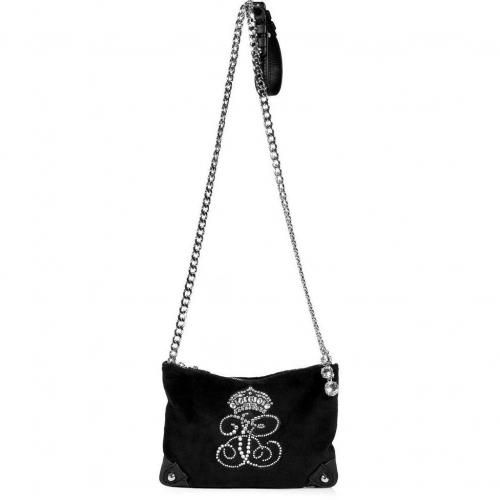 Juicy Couture Black Louisa All Hail Velour Cross-Body Bag