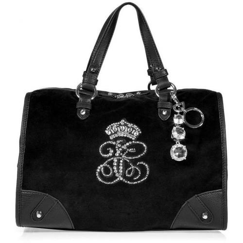 Juicy Couture Black Steffy All Hail Velour Bag
