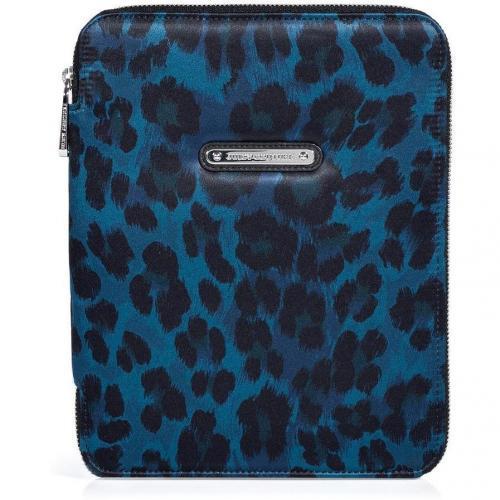 Juicy Couture Blue Leopard iPad Case
