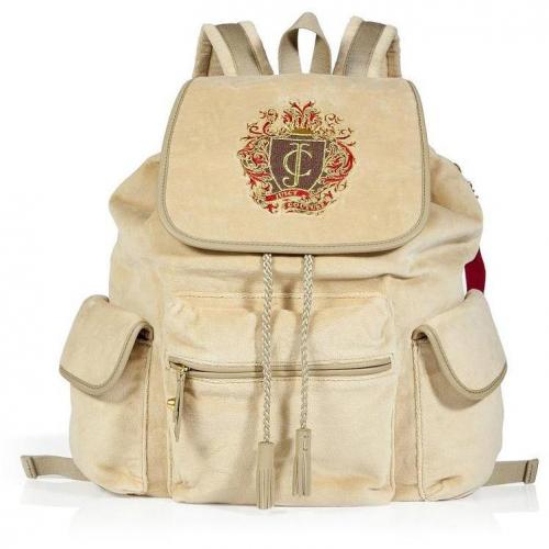 Juicy Couture Camel Trinity Regalia Velour Bagpack