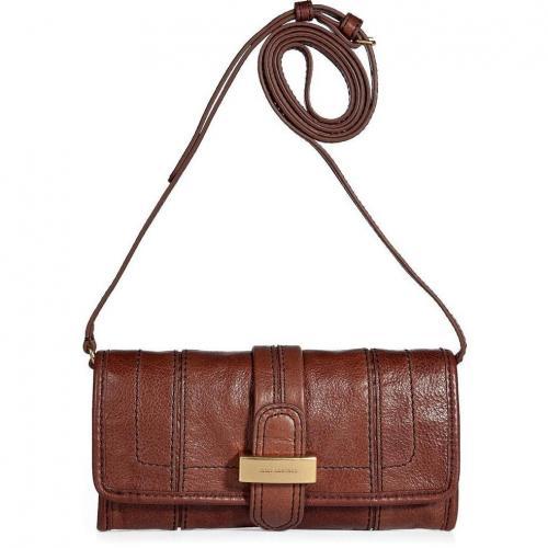 Juicy Couture Cognac Leather Convertible Bag
