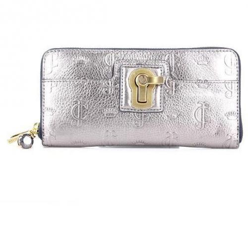 Juicy Couture Essentially Everday Zip Wallet Heather Pewter