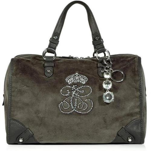 Juicy Couture Pewter Steffy All Hail Velour Bag