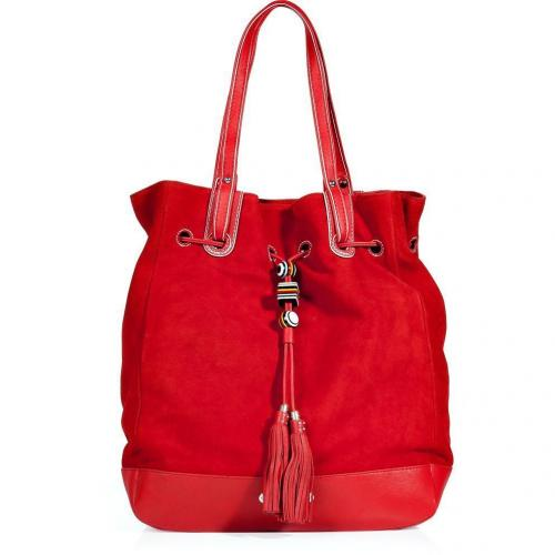 Juicy Couture Red Siren Amy Swing It Suede Bag
