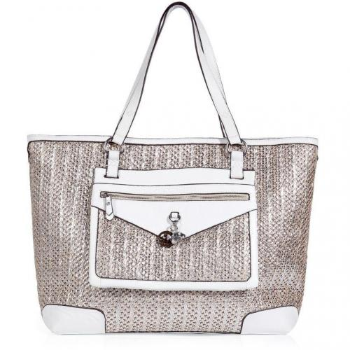 Juicy Couture Silver and White Palms Spring Party Bag