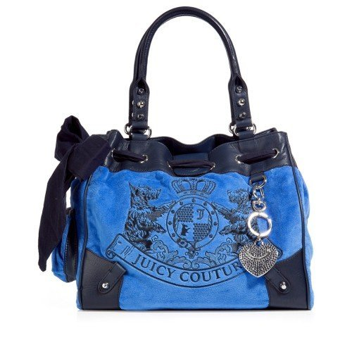 Juicy Couture Tote Bag Embroidery Daydreamer Scotty Blau
