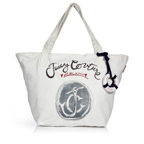 Juicy Couture Ivory Canvas Tasche