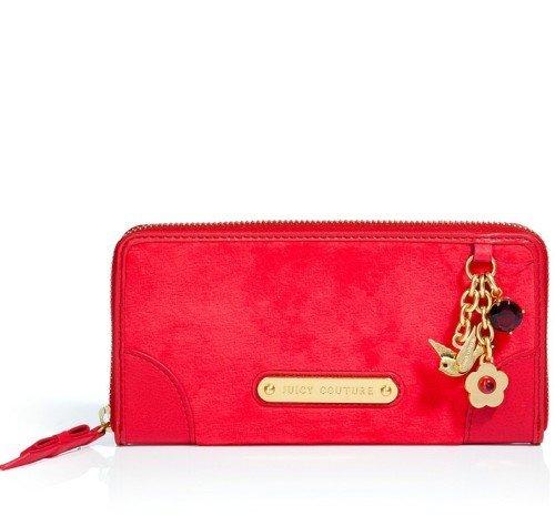 Juicy Couture Siren Red Go Steady Zip Portemonnaie