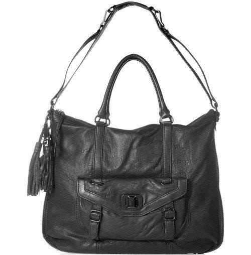 Juicy Couture Leder Tote Bag Schwarz