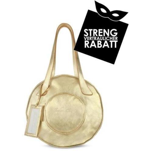 Julia Cocco' Runde Handtasche aus metallicgoldenem Leder