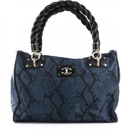 Just Cavalli Tote Snake Blue/Black