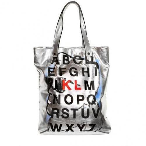 Karl Lagerfeld Paris - Metallic Leder Alphabet Tasche