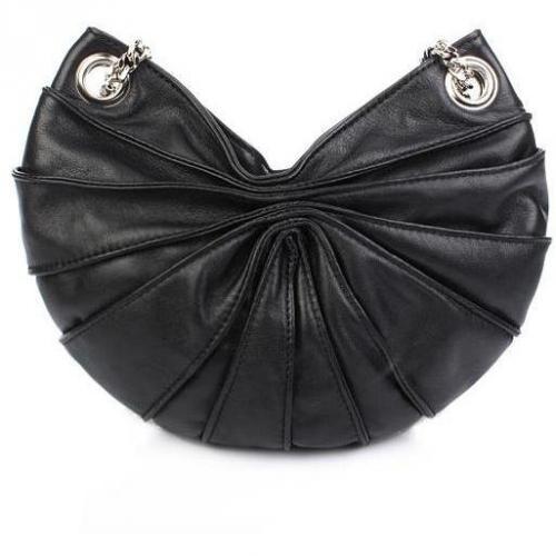 Kaviar Gauche Lamella Bag Black Silver Micro