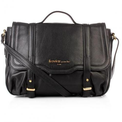 Kaviar Gauche Logo Satchel Bag Black/Gold