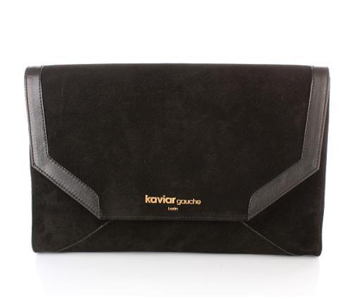 Kaviar Gauche Handtasche Diamond Envelope Black/Gold