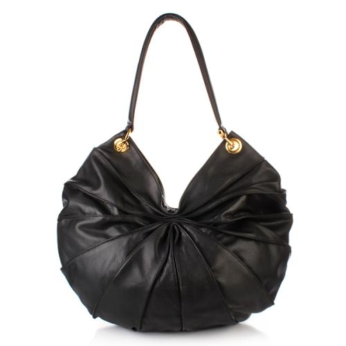 Kaviar Gauche Lamella Bag Midi Black/Gold