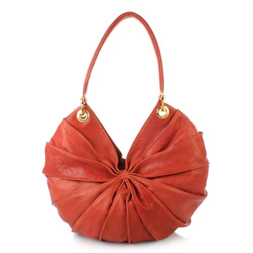 Kaviar Gauche Lamella Bag Midi Red/Gold