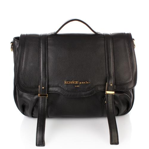 Kaviar Gauche Satchel Bag Black/Gold