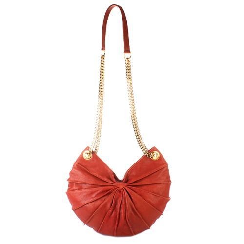 Kaviar Gauche Lamella Bag Semi Rot / Gold