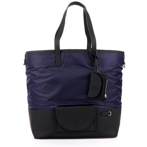 Kenzo Shopper Nylon & Split Leather Nighfall Blue large
