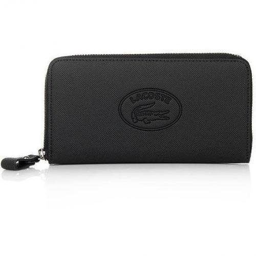 Lacoste Large Zip Wallet Black
