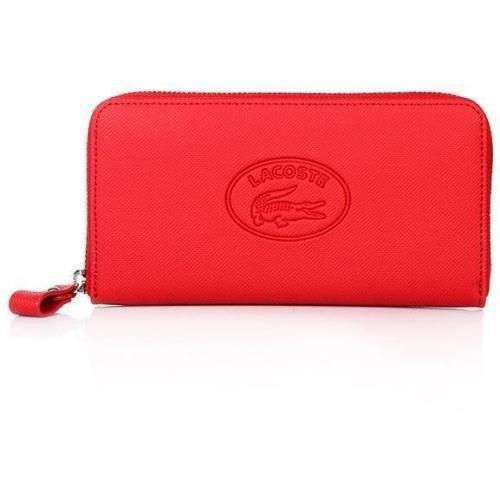 Lacoste Large Zip Wallet Flame Scarlet