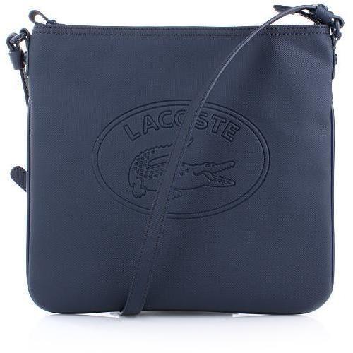 Lacoste Vert Flat Crossover Bag Black Iris
