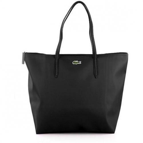 Lacoste Vertical Tote Bag Medium Black
