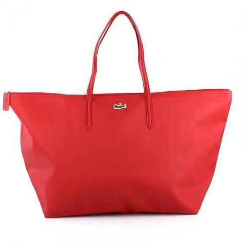 Lacoste X-Large Shopping Bag Flame Scarlet