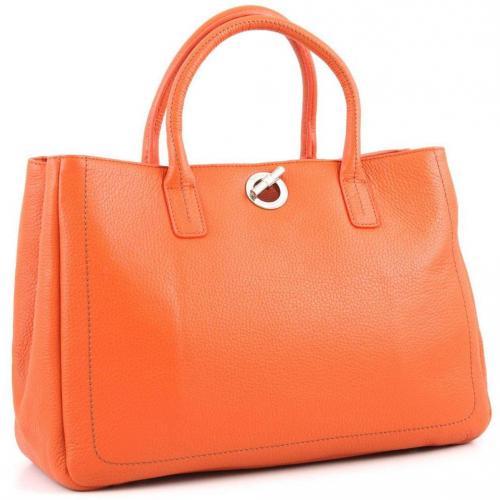 Lamarthe Paris Henkeltasche Leder orange