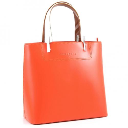 Lamarthe Portofino Henkeltasche Leder orange