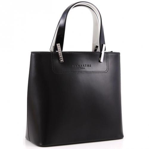 Lamarthe Portofino Henkeltasche Leder schwarz