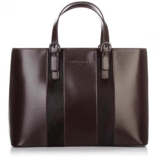 Lamarthe Portofino Lux East West Shopping Bag Testa Moro
