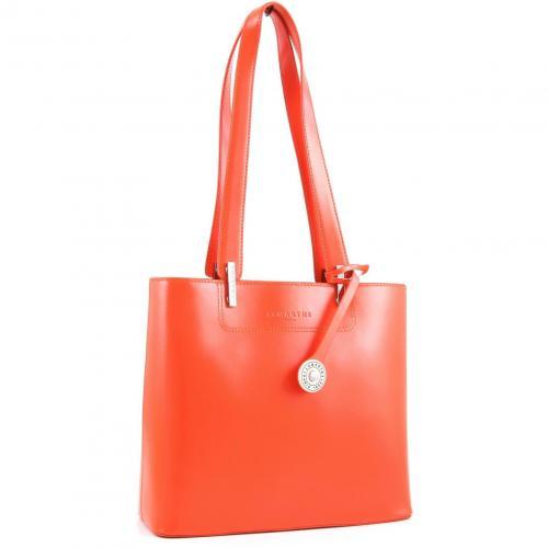 Lamarthe Portofino Schultertasche Leder orange