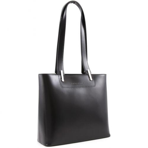 Lamarthe Portofino Schultertasche Leder schwarz