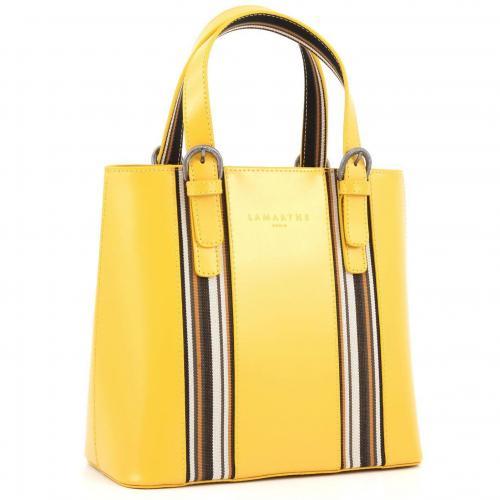 Lamarthe Portofino Sun Henkeltasche Leder gelb